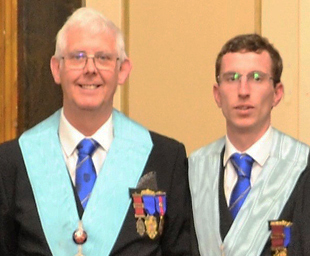 Son installs father in Temple Lodge