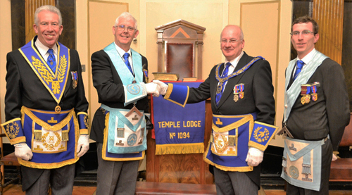 Pictured from left to right, are: Mark Matthews, John Bruffell, Robert Wright and Chris Bruffell.