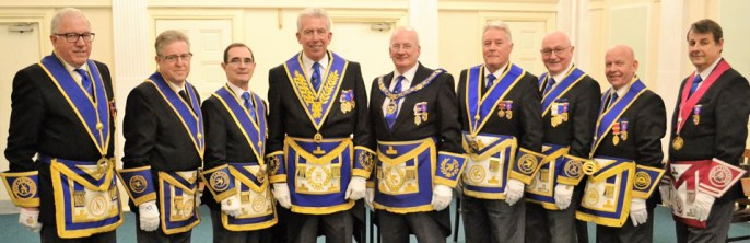 Pictured from left to right, are: David Kenworthy, Ray Moore, Keith Williams, Mark Matthews, Robert Wright, Tom Bradfield-Kay, Mike Dutton, David Scott and John Walters.