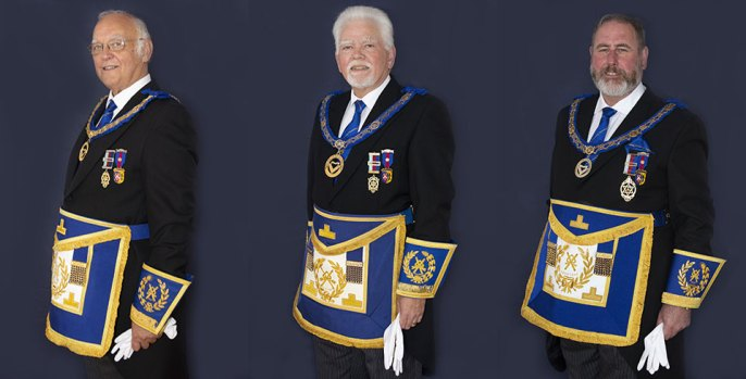 The three, newly appointed APrGM's, pictured from left to right, are: David Ogden, David Randerson and Frank Umbers.