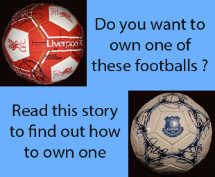 Bid for a signed football