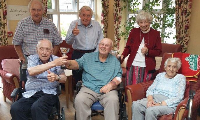 The triumphant Tithebarn team retake the cup!