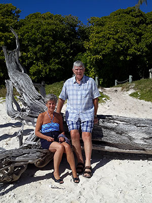 Visiting Lady Musgrave Island on the Great Barrier Reef.
