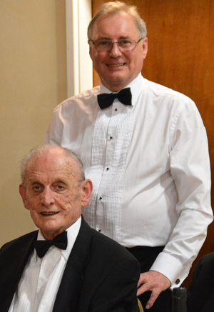 One for the family album. Paul Taylor (rear) with his father-in-law Geoff Morrow.