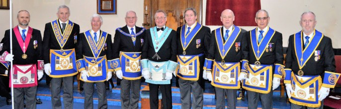 Pictured from left to right, are: Steve McKellar, Paul Thornton, Jim Wilson, David Grainger, Paul Taylor, Neil McGill, Barrie Bray, Reg Wilkinson and Les Newlands.