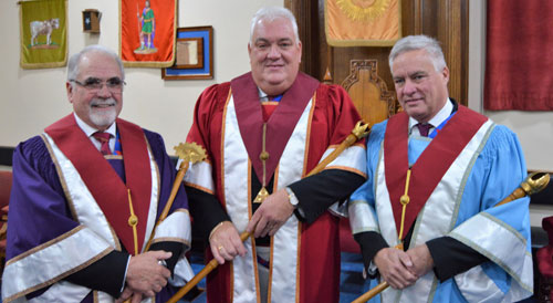 Pictured from left to right, are: Norman Mitchell, Paul Fuery and Simon Hanson