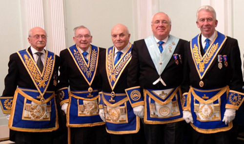 Pictured left to right, are: Mike Winterbottom, Stan Such, Clive Jefferies, Ray Fitzsimmons and Mark Matthews.