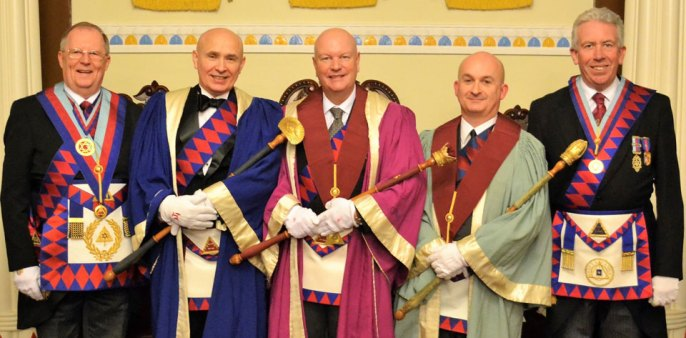 Pictured from left to right, are: Colin Rowling, Robert Martin, Paul Copeland , Oliver Winder and Mark Matthews.