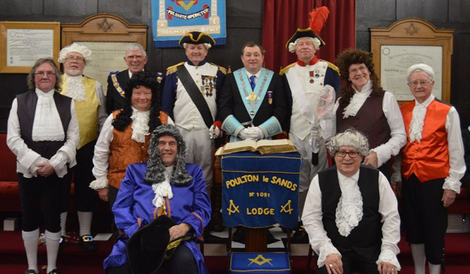 The marvellous 'Timeline Drama and Pageant Team' from the St Helens and Prescot Group at Poulton le Sands Lodge.