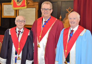 Pictured from left to right, are: Brain Warrington, Ken Needham and Ray Griffiths.