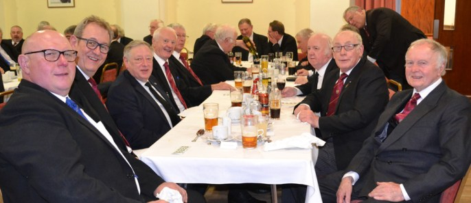 Member and guests of Rowley Chapter enjoying the celebratory festive board.