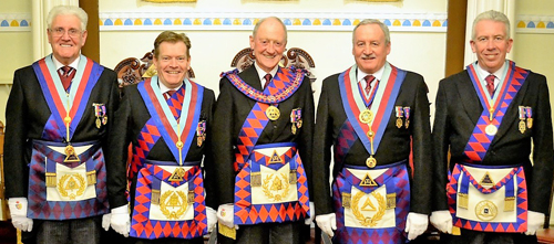 Pictured from left to right, are: Malcolm Warren, Kevin Poynton, Barry Jameson, Sam Robinson and Mark Mathews.