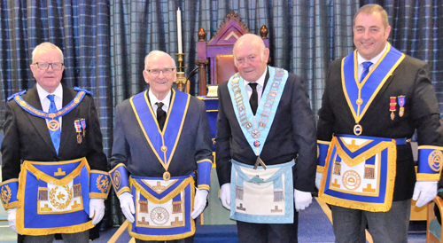 Pictured from left to right, are: Keith Kemp, Stan Naylor, Ron Rich and Scott Devine.