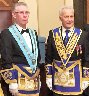 Peter McCarthy (left), with Martin Lockyer.