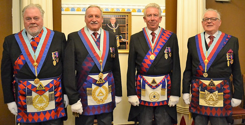 Pictured from left to right, are: Roy Pyne, Sam Robinson, Mark Matthews and Peter Connolly