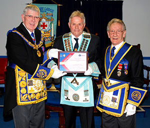 Well done, Crosby Lodge! A new master and a Festival Patron's certificate.