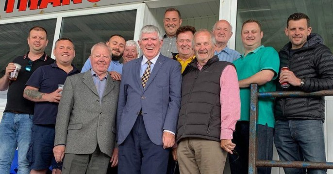 A great day out watching the rugby in Barrow with the 'Cavendish Club' members.
