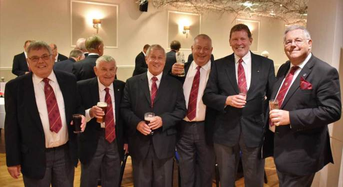 Pictured from left to right, are: Andre Lawrence, Bill Glassey, Allan Everett, George Fox, Frank Heath and John Stanley.