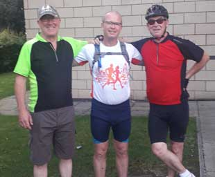 Three brothers ride to Leeds and back for Tithebarn