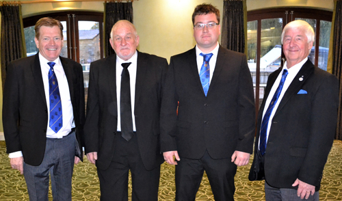 Pictured from left to right, are: Kevin Poynton, Trevor Newhouse, James Newhouse and Jim Wilson.