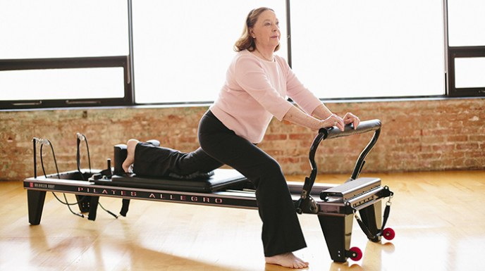 Pilates for seniors and the aging population, builds strength & balance, increases flexibility.