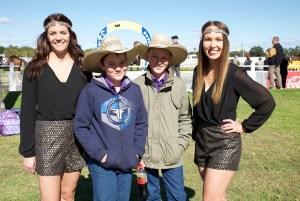 Casey & Sarah with 2 young racegoers