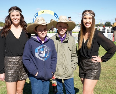 Casey & Sarah with 2 young racegoers