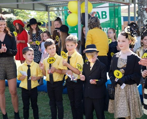 Kids Fashions entrants line up at 2016 Westlawn Race Day