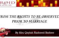 The Rights Of The Husband | Rasheed Barbee
