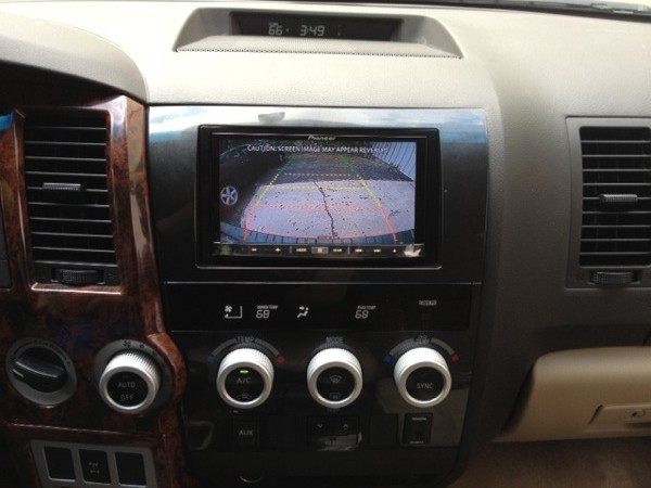 Navigation And Backup Camera Installed In 2008 Toyota Sequoia
