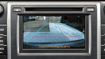 Aftermarket Toyota Camry Backup Camera Displays on Factory Screen