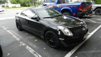 In Dash Video And Raven Tint For This Baltimore Infiniti G35