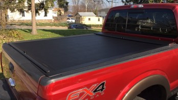Roll-N-Lock Bed Cover Secures Cargo for 2016 F350