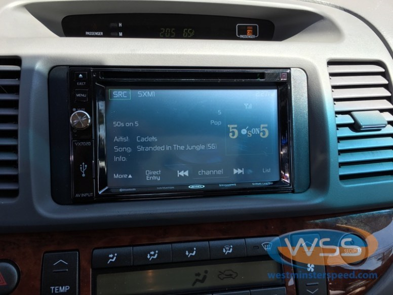 Toyota Camry In-Dash Touchscreen