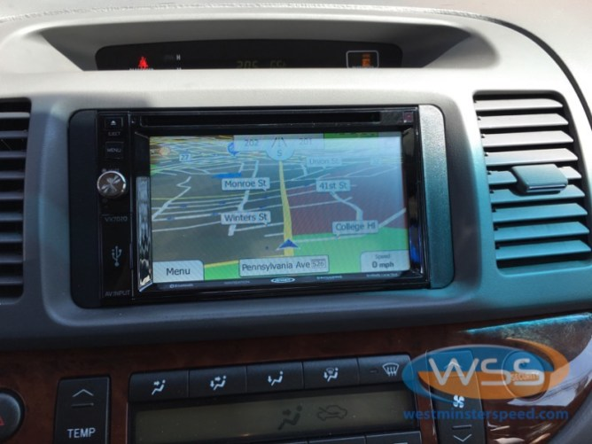 Toyota Camry In-Dash Touchscreen Upgrade for Gaithersburg Client
