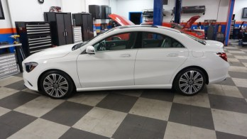 Mercedes-Benz CLA250 Paint Protection Film for Baltimore Client