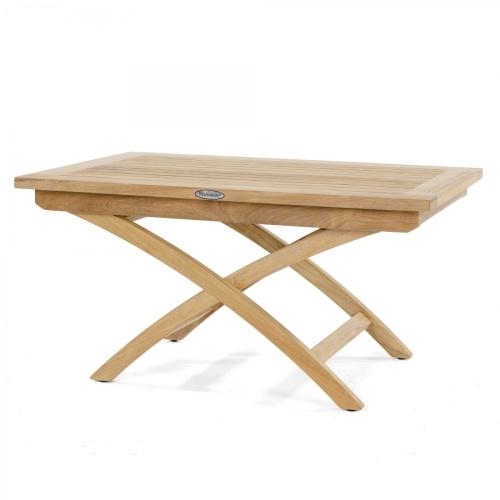 barbuda 3 ft x 2 ft folding teak coffee table
