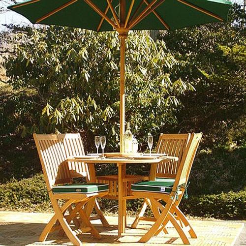5 pc hyatt barbuda teak patio dining set