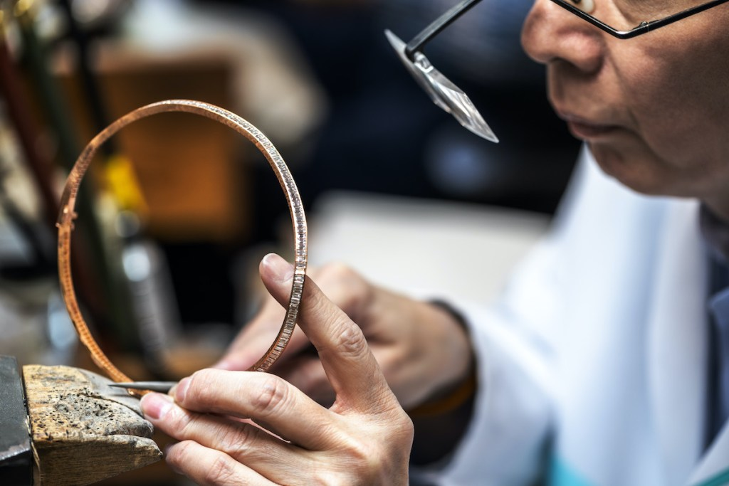 Tiffany & Co. craftsman at work