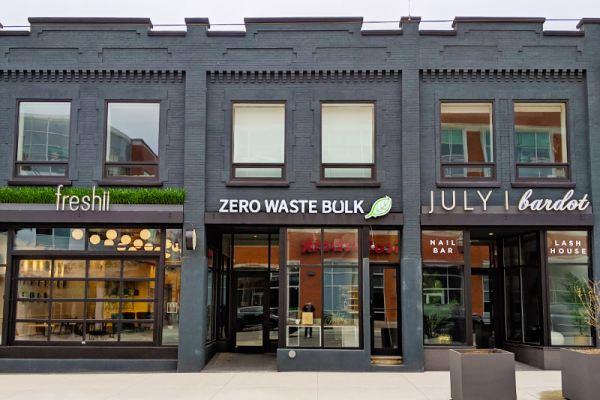 Freshii, Zero Waste Bulk, July Bardot – Store Front Signage