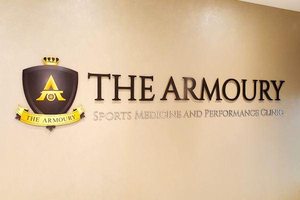 The Armoury Wall Pinmount Logo