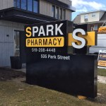 image of the Spark Pharmacy ground sign