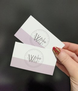 Picture of hand holding custom printed business cards