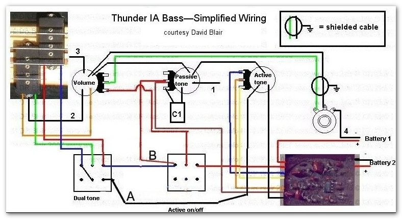 Thunder IA bass simplified wiring1 thunder ia bass westone guitars the home of westone westone thunder 1a wiring diagram at fashall.co