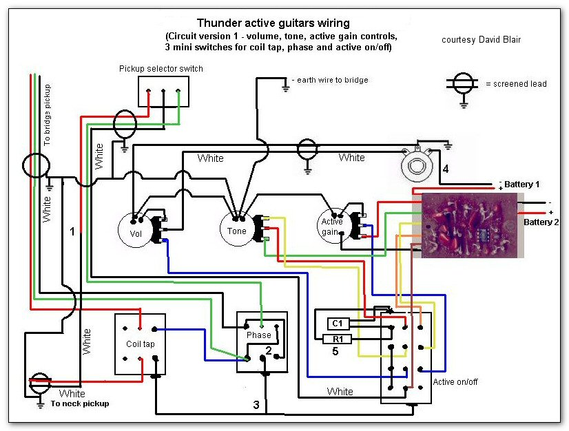 Thunder IIA wiring version 1 thunder series active models westone guitars the home of westone westone thunder 1a wiring diagram at fashall.co
