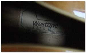 '85 Westone King II-Label