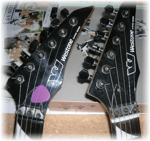 C:\Users\Barry\Desktop\Westone Guitars for Resto Section of Website\Corsair\'87 Clipper pix\'87 clipper headstock compare.png