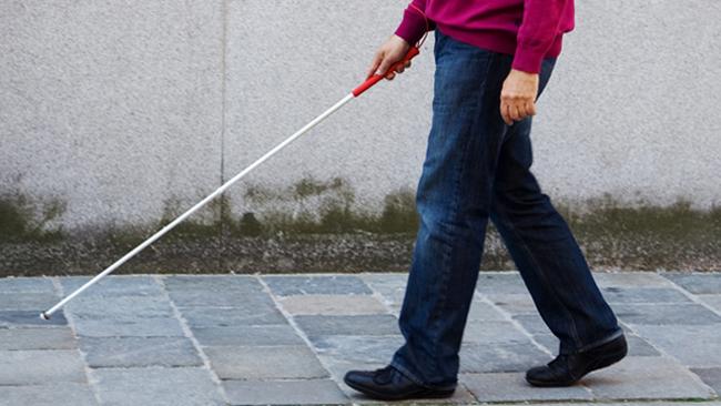 Image result for Blind man walking