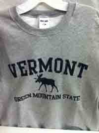 Vermont Green Mountain State Moose Sweatshirt