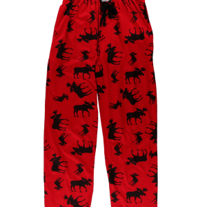 Red Classic Moose | Unisex PJ Pants